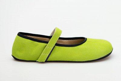 Unisexová barefoot obuv Ahinsa Ananda Bare Balerínka Zelená Sunbrella®