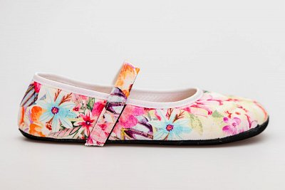 Unisexová barefoot obuv Ahinsa Ananda Bare Balerínka Kytičkovaná 2