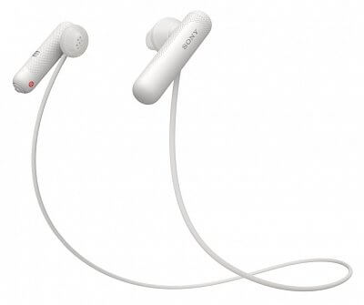 Sportovní bezdrátová Bluetooth sluchátka Sony WISP500 bílá