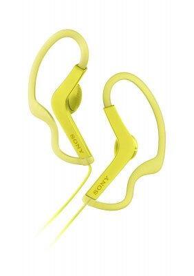 Športové slúchadlá Sony MDRAS210AP žltá