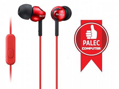 Klapková sluchátka Sony MDREX110AP červená