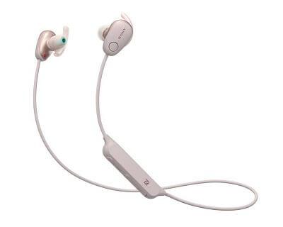 Sportovní Bluetooth sluchátka Sony WISP600 růžová