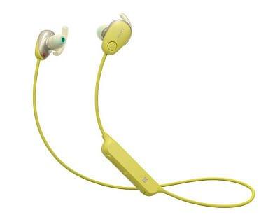 Sportovní Bluetooth sluchátka Sony WISP600 žlutá