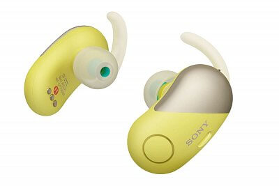 Samostatná Sportovní Bluetooth sluchátka Sony WFSP700N žlutá