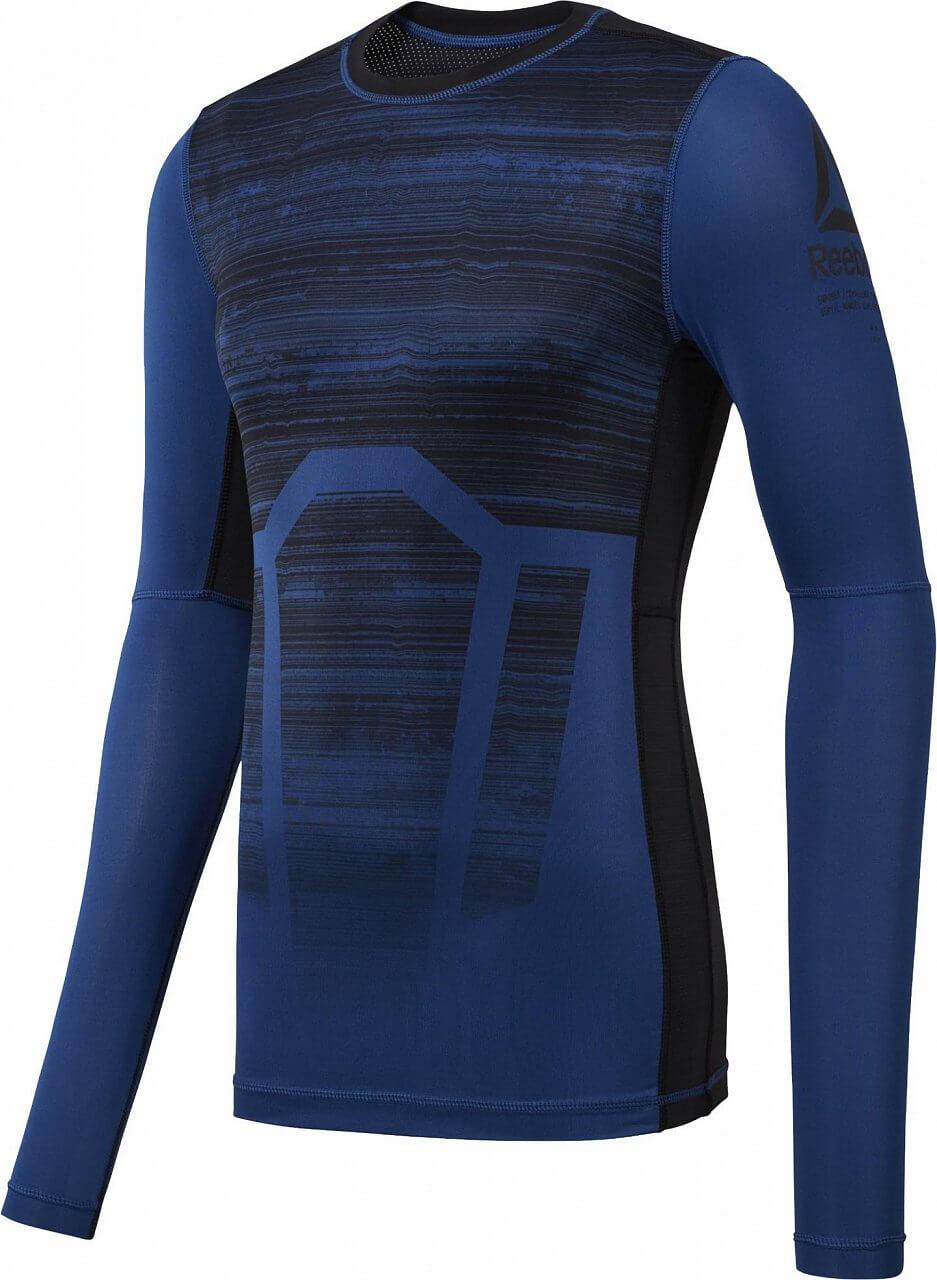 e99ab6ef0414 Pánske športové tričko Reebok ActivChill Long Sleeve Compression Tee AOP