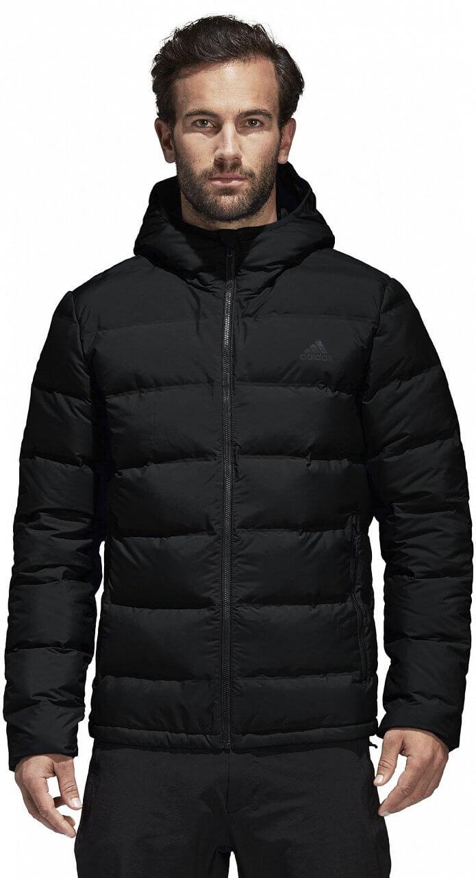 Pánská sportovní bunda adidas Helionic Down Hooded Jacket