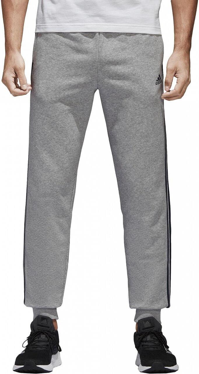 Pánské sportovní kalhoty adidas Essentials 3S Tapered Cuffed Pants Fleece
