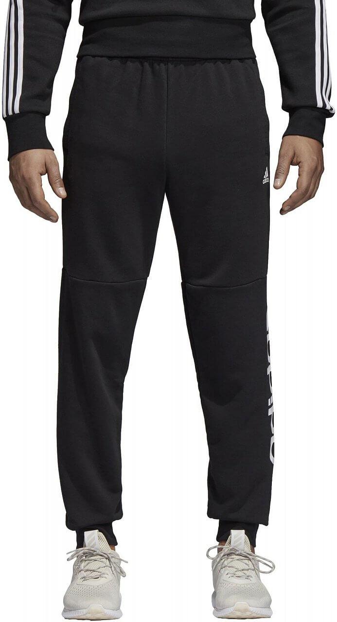 Pánské sportovní kalhoty adidas Essentials Linear Tapered Pant Fleece