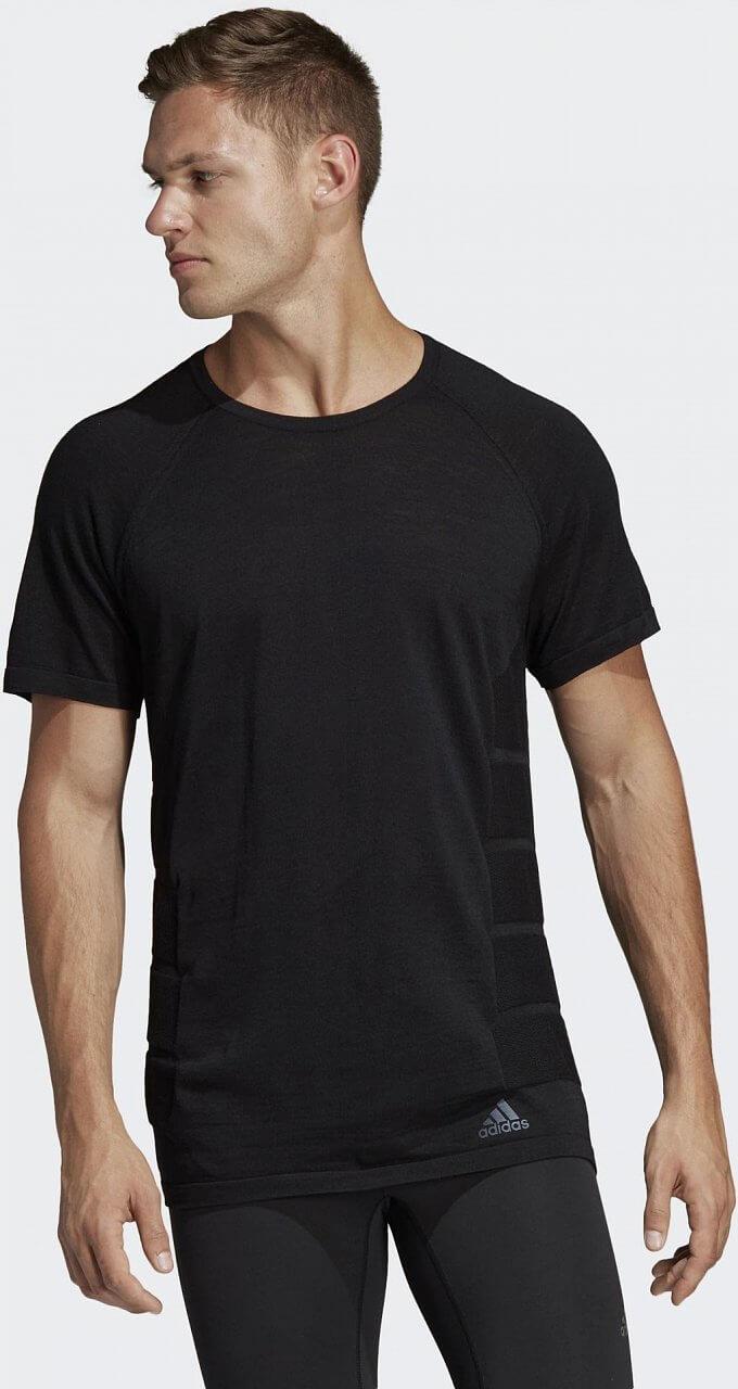 Pánské běžecké tričko adidas Primeknit Tee Wool Men