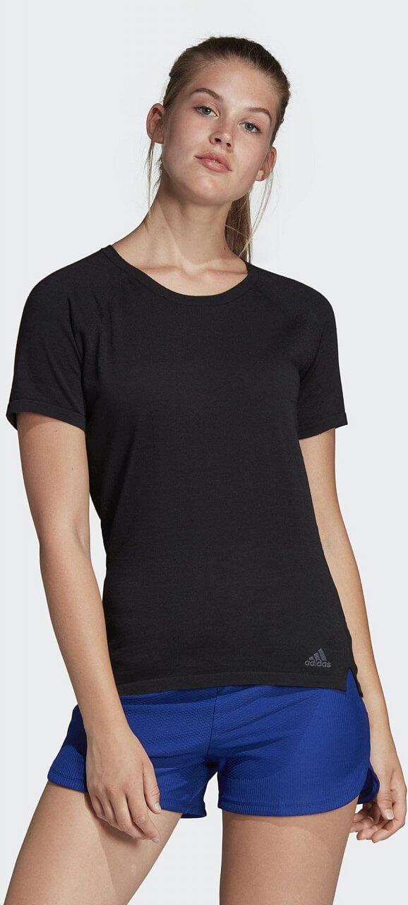 Dámské běžecké tričko adidas Cru Tee Primeknit Wool Women