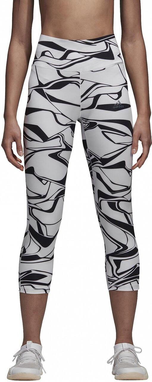 Dámské sportovní kalhoty adidas Ultimate Regular Rise Trac Print 3/4 Tight
