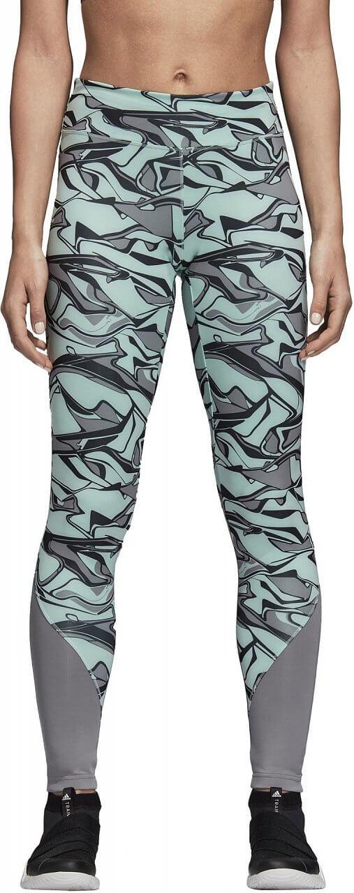 Dámské sportovní kalhoty adidas Design to Move Regular Rise Print Long Tight