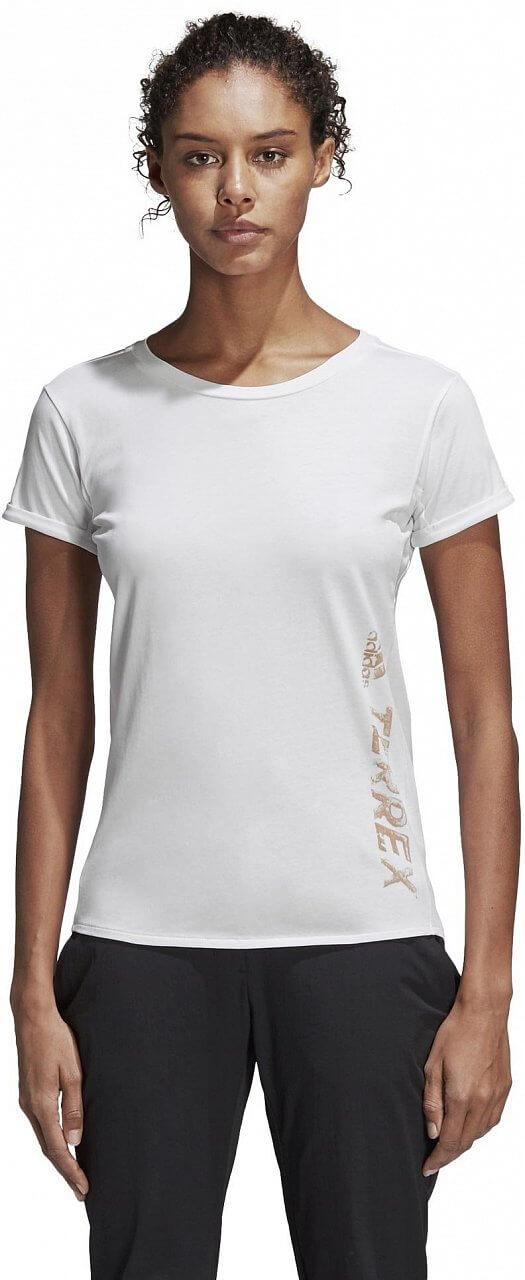 Dámské sportovní tričko adidas W Logo Bar Tee