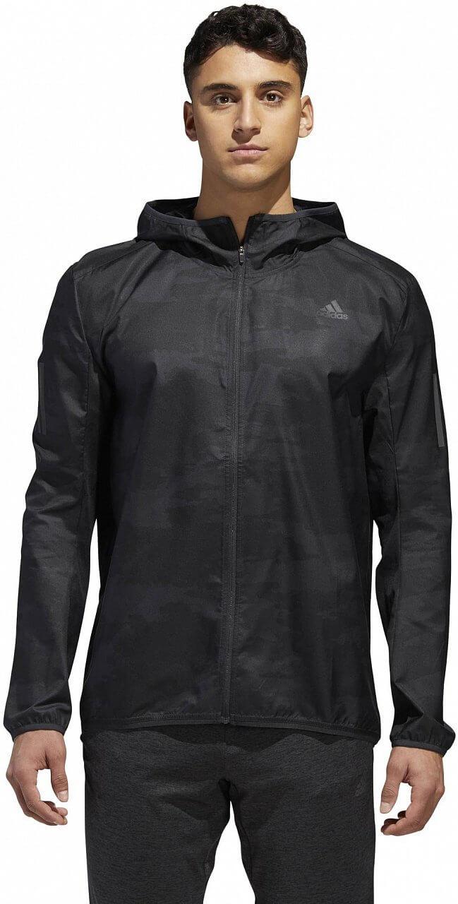 Pánská běžecká bunda adidas Response Graphic Hooded Wind Jacket Men