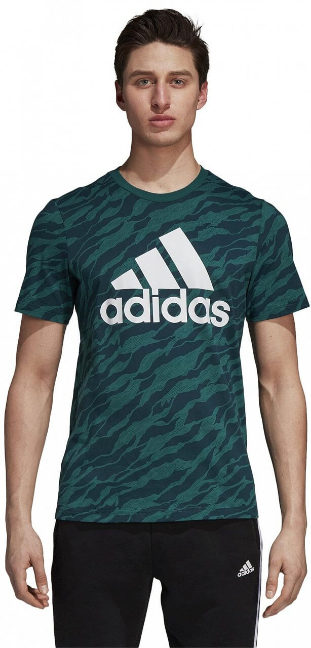 Pánské sportovní tričko adidas Essentials AOP Tee