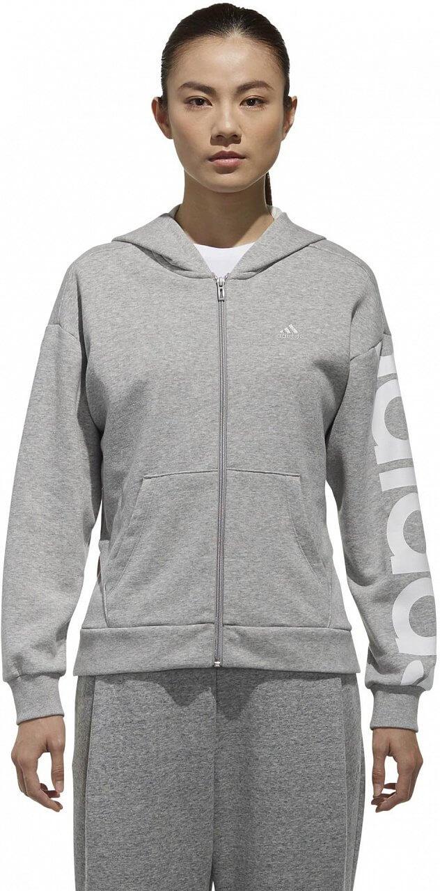 Dámská sportovní mikina adidas W Sport2Street Big Logo Fleece Hoodie