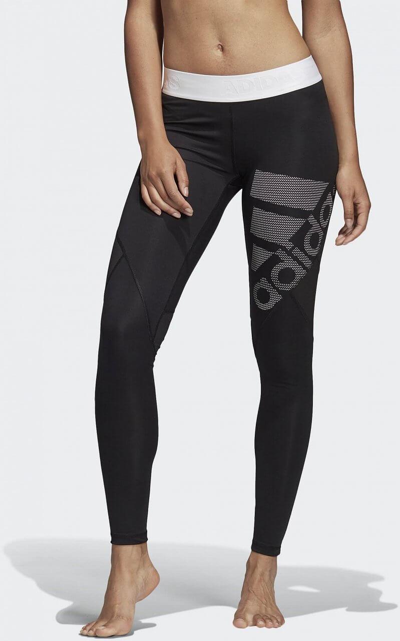 Dámské sportovní kalhoty adidas Alphaskin Sport Long Tight Logo Pack Solid
