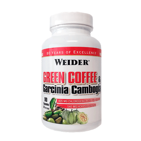 Spalovače tuků Weider Green Coffee & Garcinia Cambogia, 90 kps