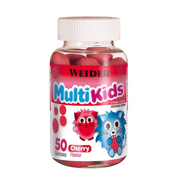 Vitamíny a minerály Weider Multi Kids třešeň, 50 bonbónů