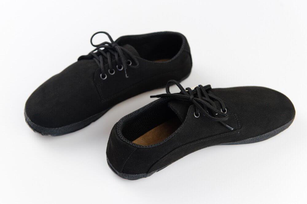 Barefoot cipők Ahinsa Černá semišová ultraflex (Barefoot professional)