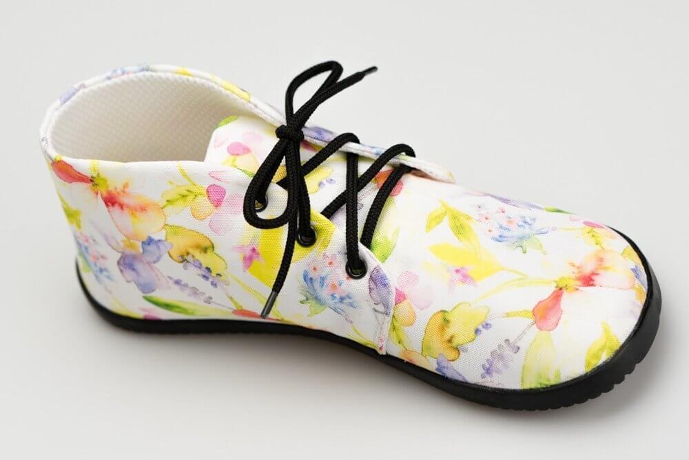 Unisexová barefoot obuv Ahinsa Ahinsa Bare Ankle Lifo+ Kytičkovaná