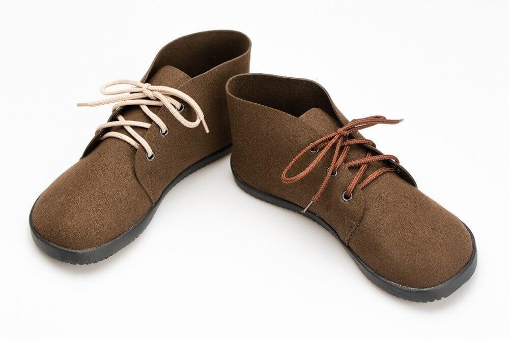 Barefoot cipők Ahinsa Bindu Bare Ankle Hnědá