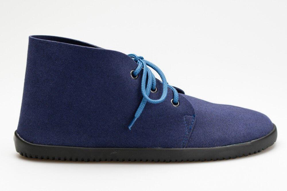 Unisexová barefoot obuv Ahinsa Bindu Bare Ankle Modrá