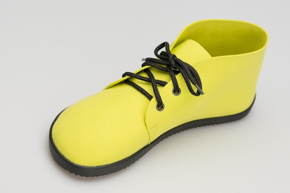 Barefoot cipők Ahinsa Bindu Bare Ankle Žlutá
