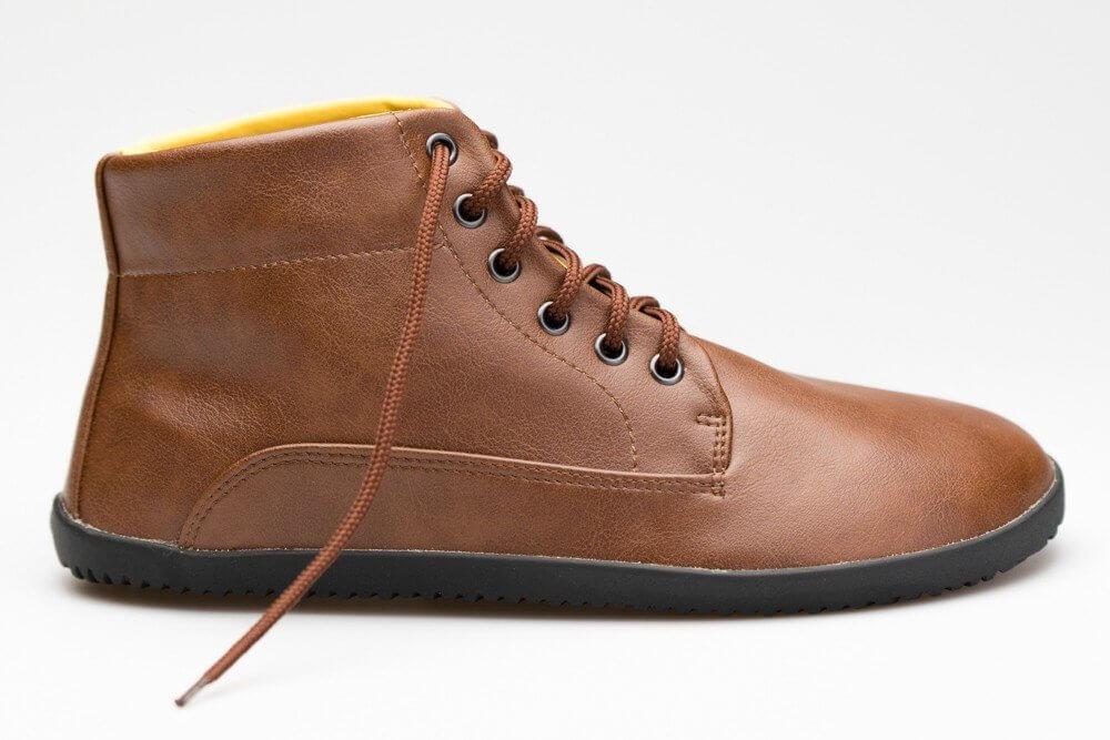 Barefoot obuv navržená fyzioterapeuty Ahinsa Ahinsa Bare Ankle Lifo+ Světle Hnědá