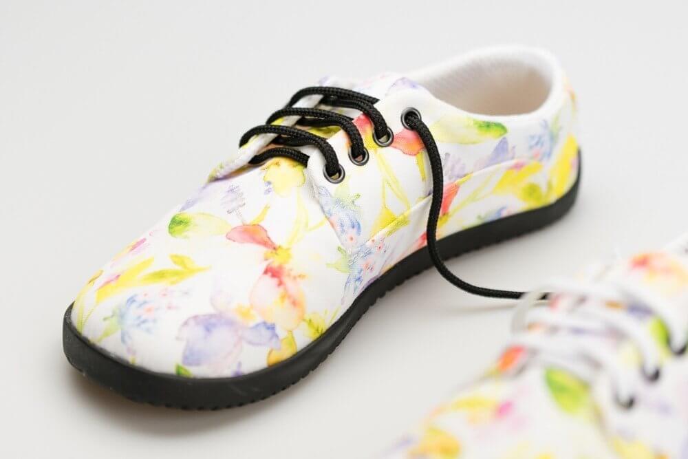 Barefoot cipők Ahinsa Sundara Bare Lifo+ Kytičkovaná