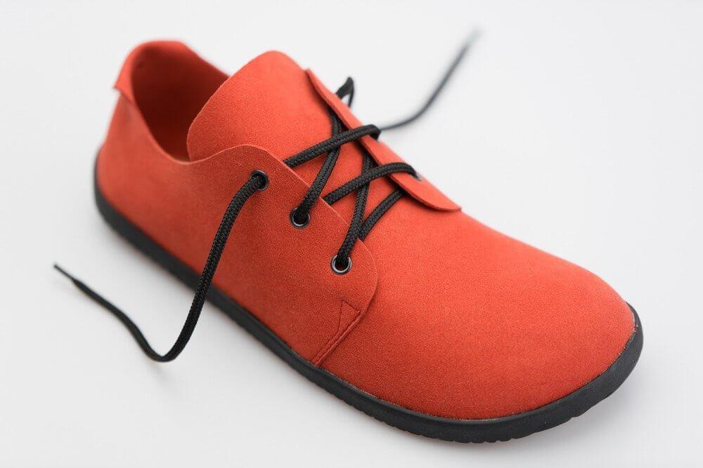 Unisexová barefoot obuv Ahinsa Bindu Bare Červená