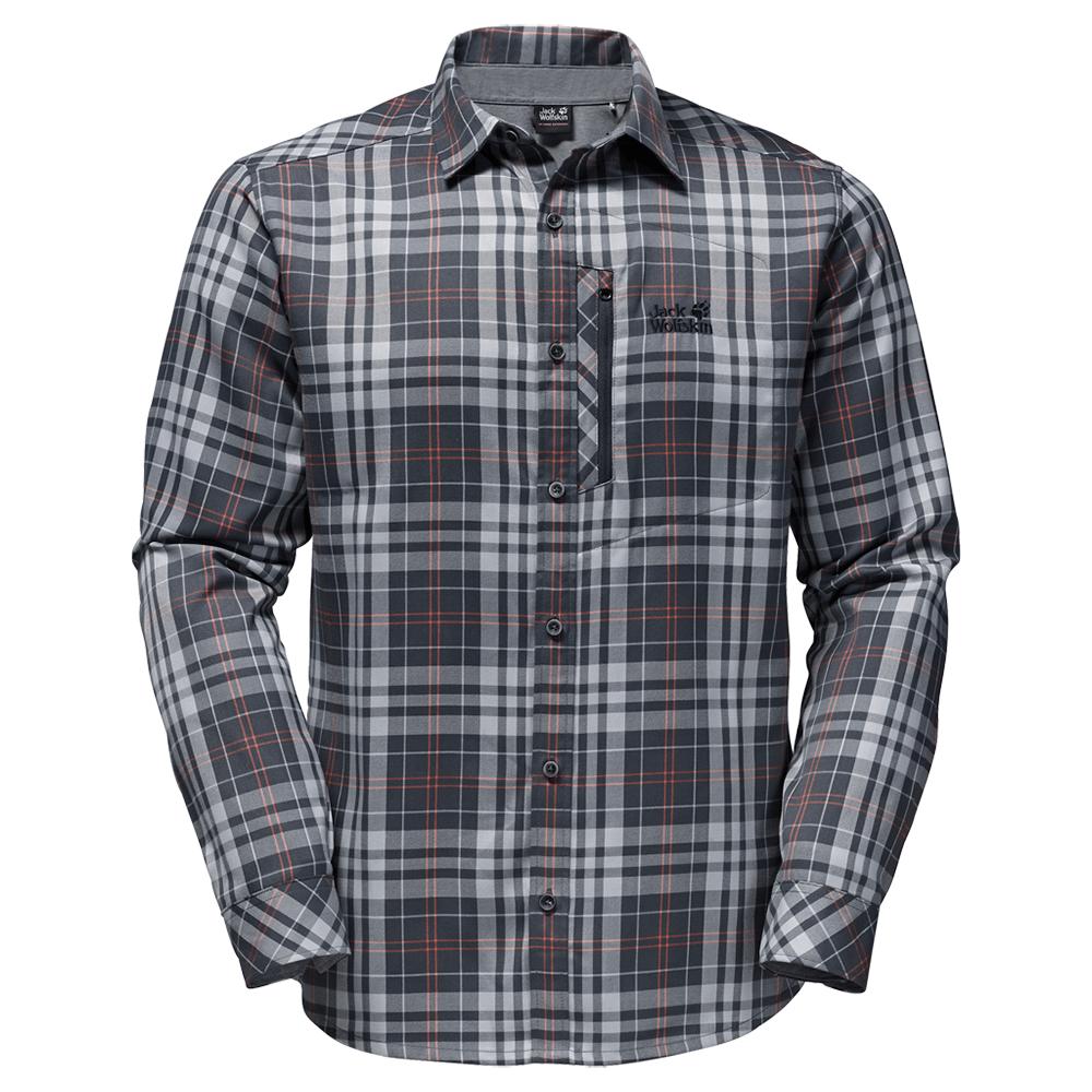 Pólók Jack Wolfskin Churchill Shirt Men ebony checks