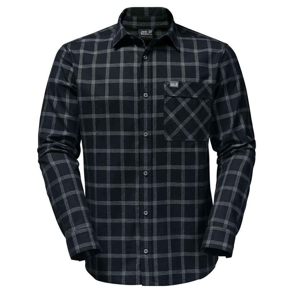 Pólók Jack Wolfskin Glacier Shirt Men black checks