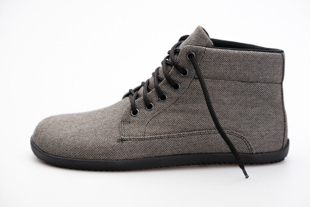 Barefoot cipők Ahinsa Sunbrella Bare Ankle MEMBRANE Šedá