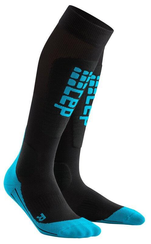 Ponožky CEP Lyžařské podkolenky RACE pánské černá / modrá