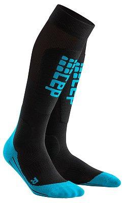 Ponožky CEP Lyžařské podkolenky RACE dámské černá / modrá