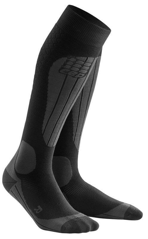 Ponožky CEP Lyžařské podkolenky TERMO dámské černá / antracitová