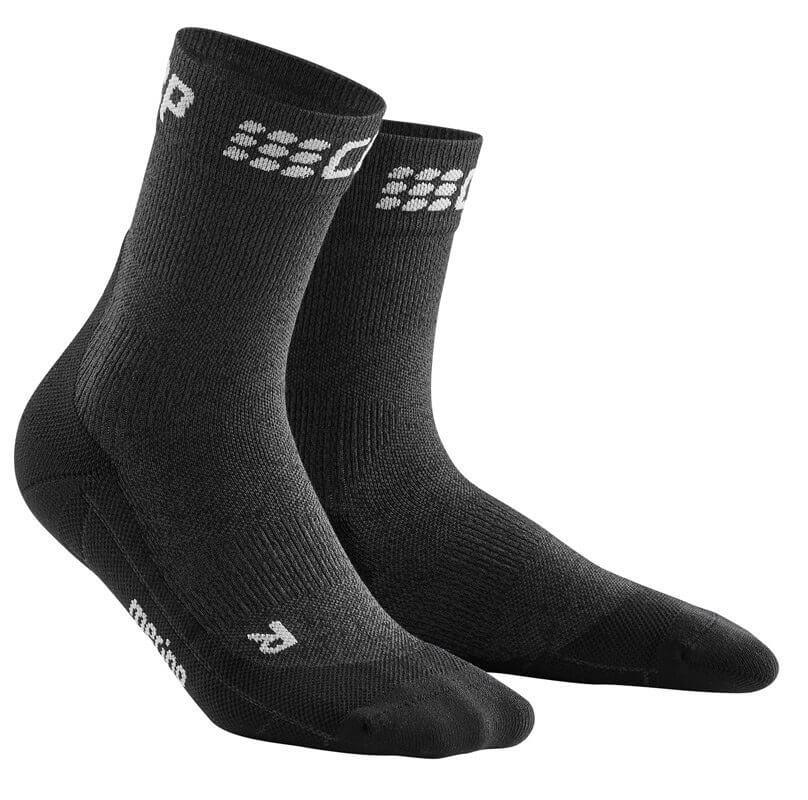 Zoknik CEP Krátké zimní běžecké ponožky pánské šedá / černá