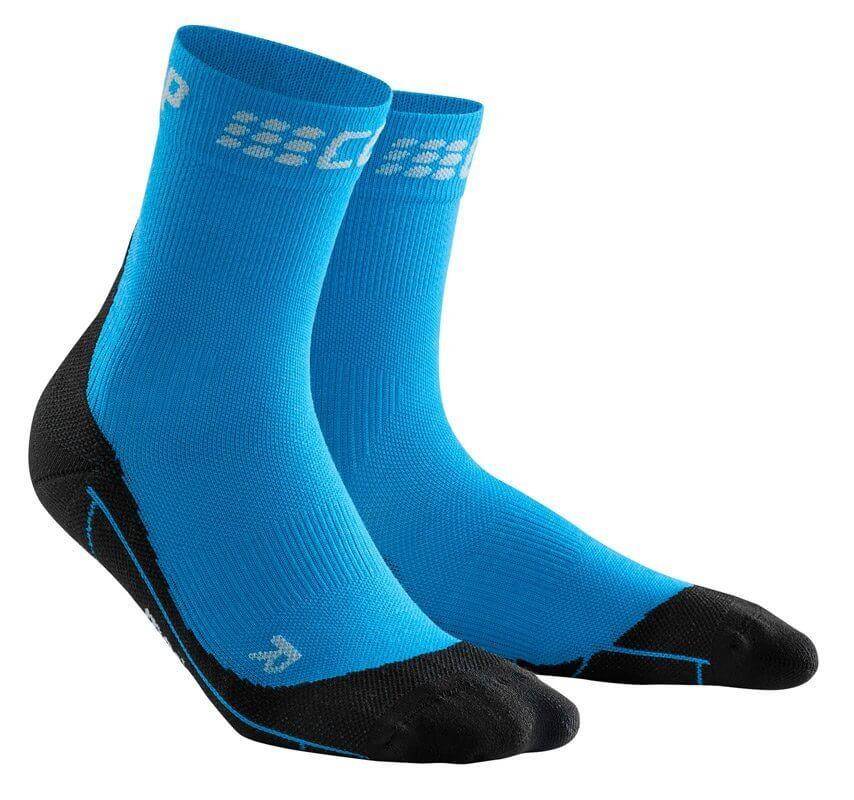 Zoknik CEP Krátké zimní běžecké ponožky dámské elektrická modř / černá