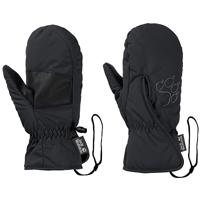 Jack Wolfskin Easy Entry Mitten Kids black 6000 - dámské rukavice ... 45b2d036ef