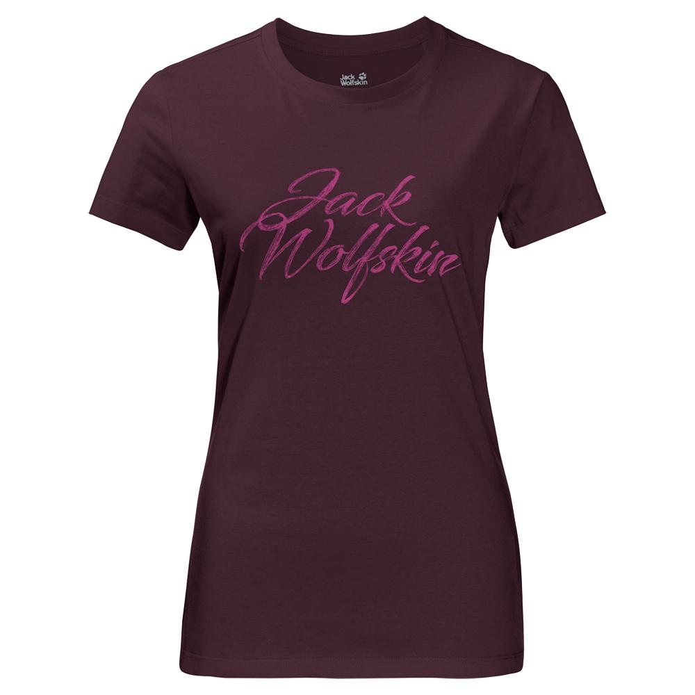 T-Shirts Jack Wolfskin Brand T-Shirt Women (1806061) Burgundy 2810