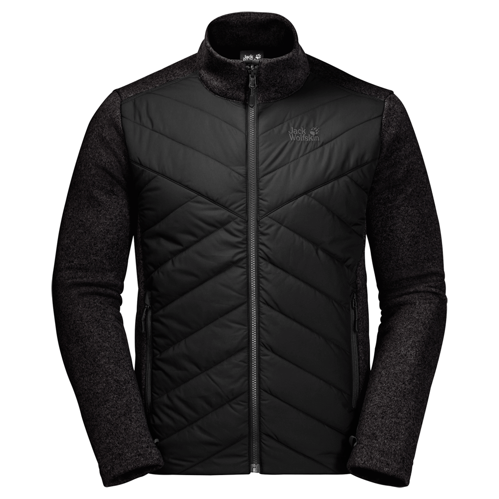 Kabátok Jack Wolfskin Caribou Crossing Track Men black 6000