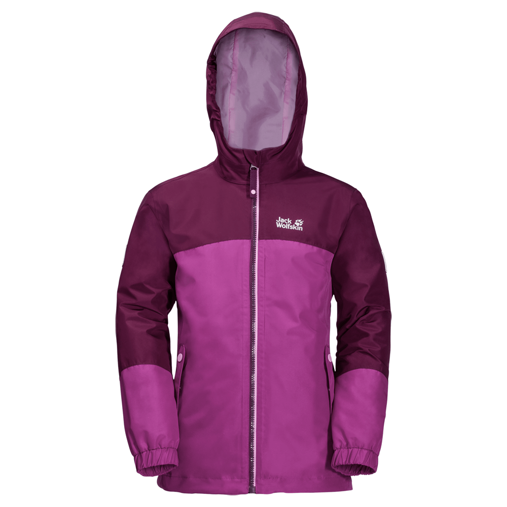 Kabátok Jack Wolfskin Iceland 3IN1 Jacket Girls (1605264) dark peony 2105