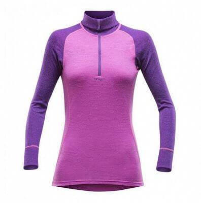 Dámské sportovní tričko Devold Vision Woman Zip Neck