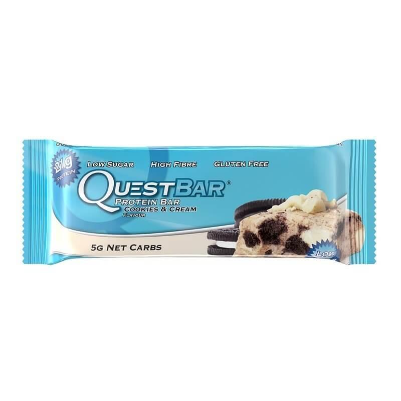Tyčinky Quest Nutrition, Quest Bar, 60 g, Cookies-Cream