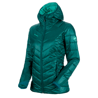Bundy Mammut Rime IN Hooded Jacket Women 40027 teal-atoll