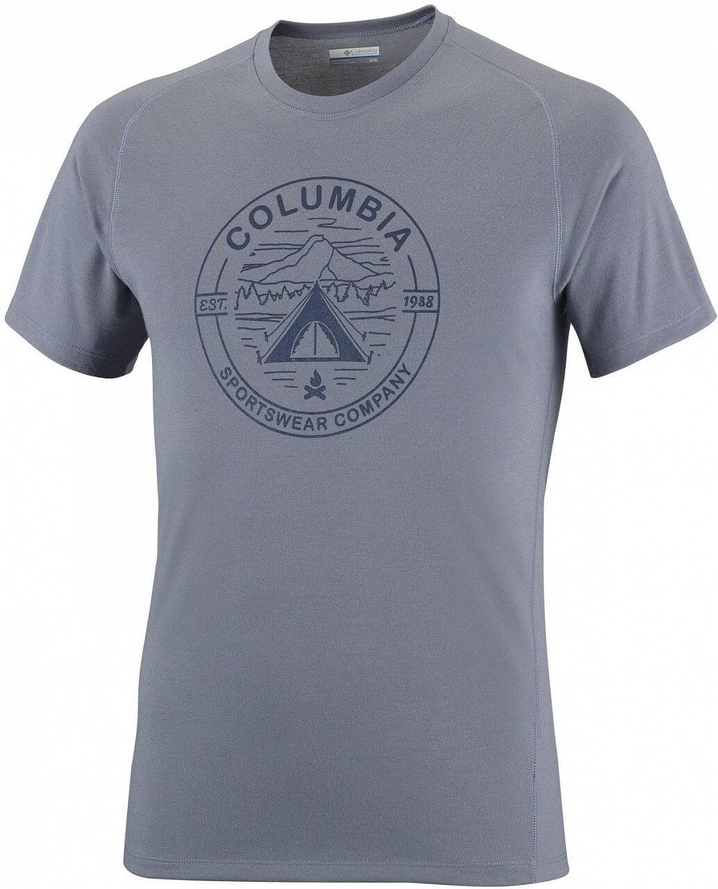Pánské tričko Columbia Mountain Tech Logo S/S Crew