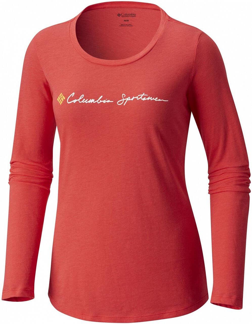 Dámské tričko Columbia CSC Script Logo LS Tee