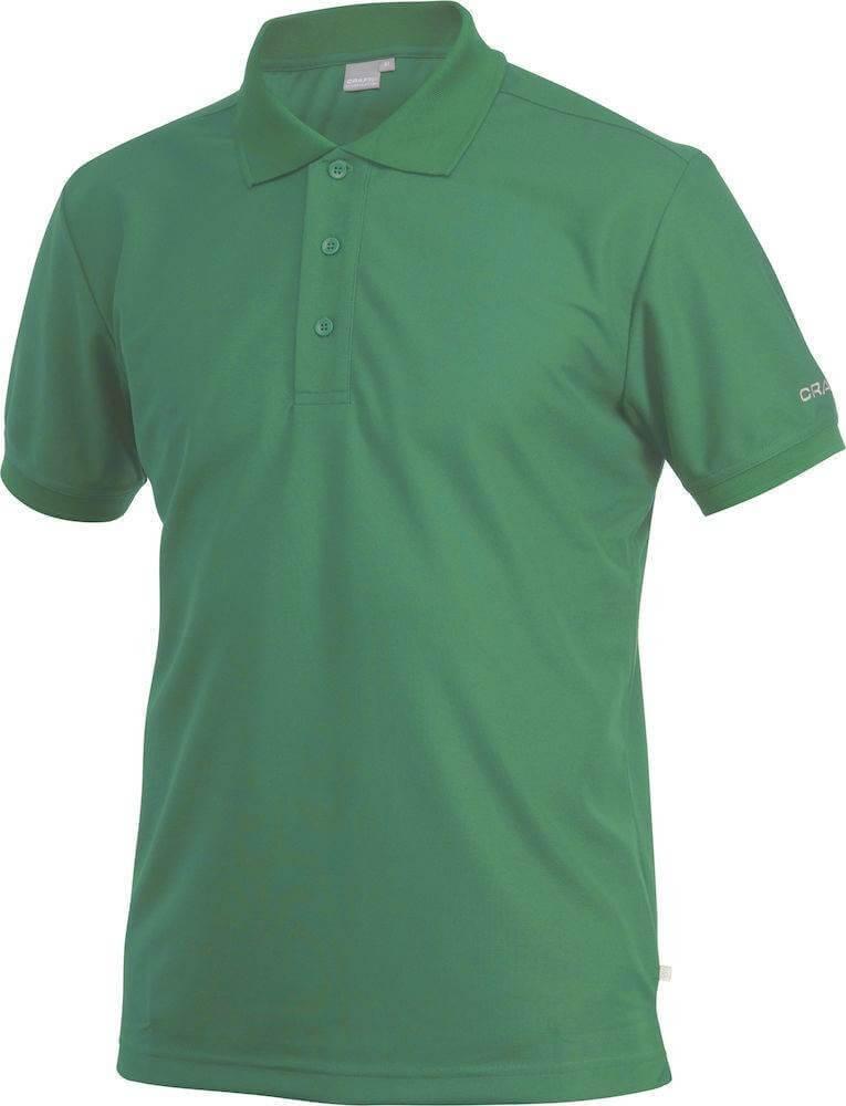 Trička Craft Triko Classic Polo Pique světle zelená