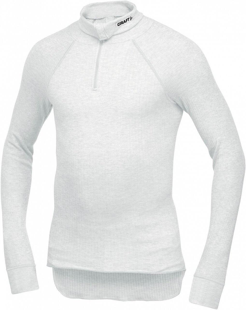 Trička Craft Rolák Active Zip bílá